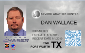 Custom Storm Chaser Photo ID Card