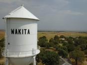 "Wakita Water Tower Poster, 18"" X 24"""