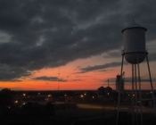 "Wakita Water Tower Sunset Postcard, 10"" X 8"""